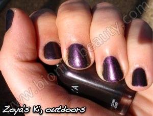 Zoya nail polish in Ki, outdoors