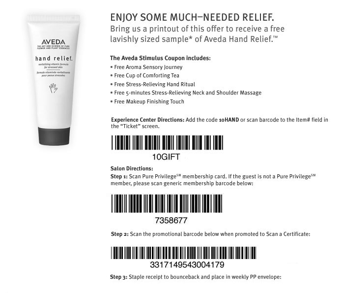 aveda coupons for haircut freebies found aveda and foot creams bionic 3820