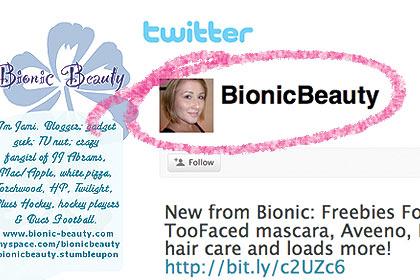 Bionic Beauty named as Top 12 Beauty Twitter Tweeter