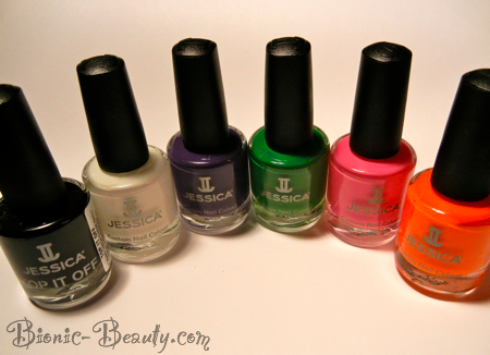 Party Chic crackle nail polish collection by Jessica