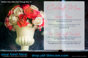 Mother's Day sale - free gifts with purchase at YBF Skincare