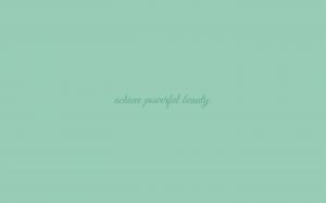 Powerful Beauty wallpaper in Grayed Jade