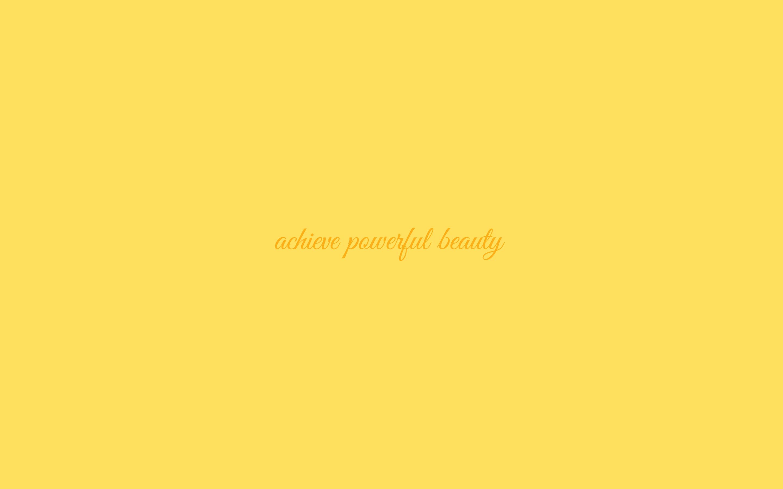 Powerful Beauty Wallpaper In Lemon Zest