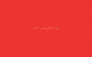 Powerful Beauty wallpaper in Poppy Red