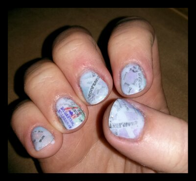 Parisian Map Nails ~ A tutorial by Bionic Beauty